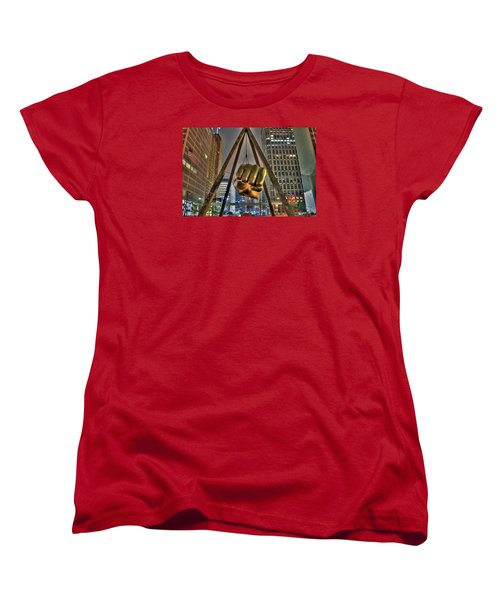 Joe Louis Fist Detroit Mi Women's T-Shirt (Standard Cut) by Nicholas  Grunas