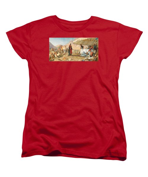 Women's T-Shirt (Standard Cut) featuring the photograph John Frederick Lewis Mount Sinai 1842 by Munir Alawi