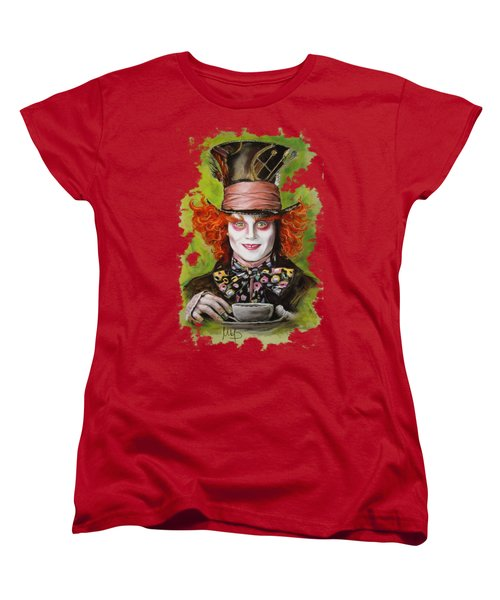 Johnny Depp As Mad Hatter Women's T-Shirt (Standard Cut) by Melanie D