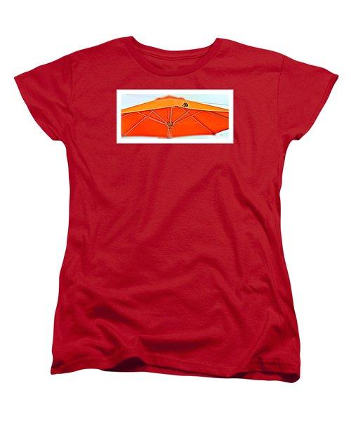 Women's T-Shirt (Standard Cut) featuring the digital art Joy On An Umbrella by Mindy Newman
