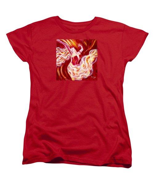 Women's T-Shirt (Standard Cut) featuring the painting Jubilation by Anya Heller