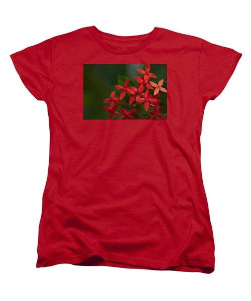 Jungle Geranium Women's T-Shirt (Standard Cut) by Marlo Horne