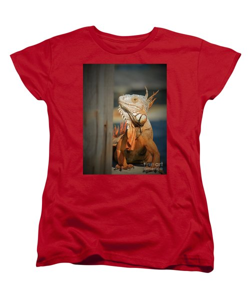 Women's T-Shirt (Standard Cut) featuring the photograph Just Around The Corner by Pamela Blizzard