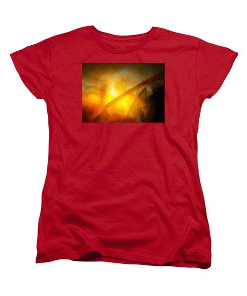 Women's T-Shirt (Standard Cut) featuring the digital art Just Light by Gun Legler