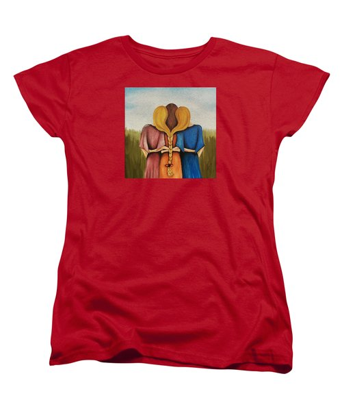 Women's T-Shirt (Standard Cut) featuring the painting Just One Braid by Edwin Alverio