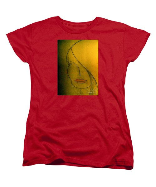 Women's T-Shirt (Standard Cut) featuring the drawing Just Thinking by Bill OConnor