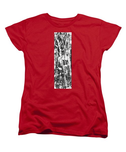 Women's T-Shirt (Standard Cut) featuring the painting Justice by Carol Rashawnna Williams