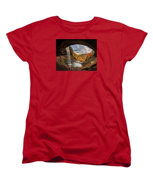 Women's T-Shirt (Standard Cut) featuring the photograph Kaaterskill Falls by Anthony Fields