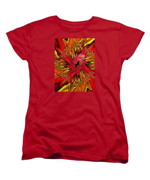 Women's T-Shirt (Standard Cut) featuring the photograph Kapowwie by Ronda Broatch