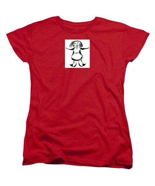 Katy Says Yes Women's T-Shirt (Standard Cut) by Delin Colon