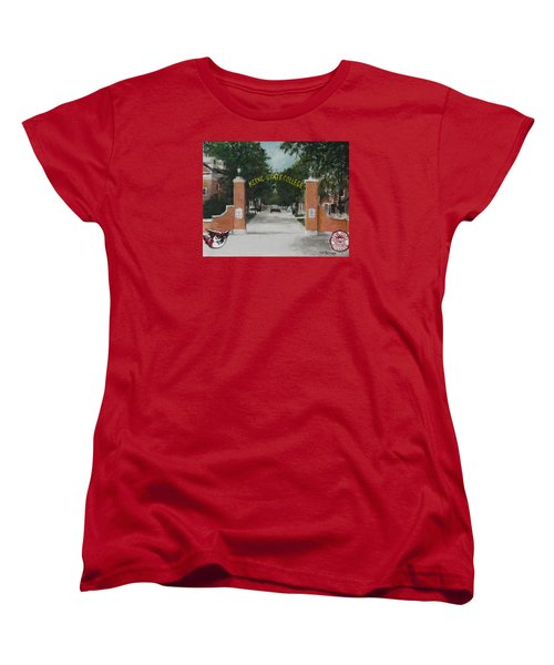 Women's T-Shirt (Standard Cut) featuring the painting Keene State College by Jack Skinner