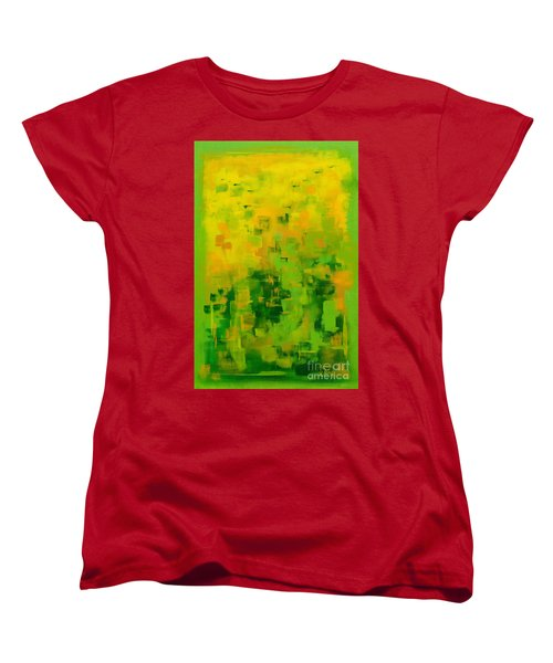 Women's T-Shirt (Standard Cut) featuring the painting Kenny's Room by Holly Carmichael