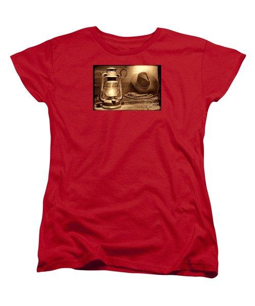 Kerosene Lantern Women's T-Shirt (Standard Cut) by American West Legend By Olivier Le Queinec