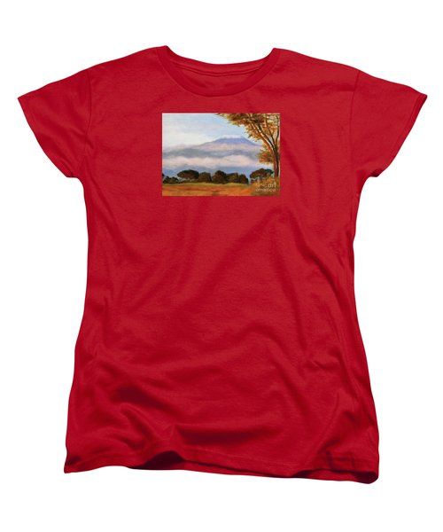 Women's T-Shirt (Standard Cut) featuring the painting Kilamigero by Marcia Dutton