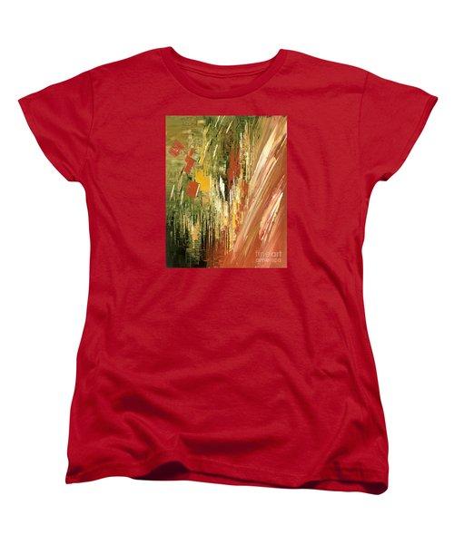 Women's T-Shirt (Standard Cut) featuring the painting Kinetic Creativity by Tatiana Iliina
