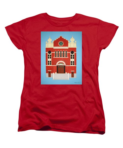 Women's T-Shirt (Standard Cut) featuring the painting King Edward Street Shul by Stephanie Moore