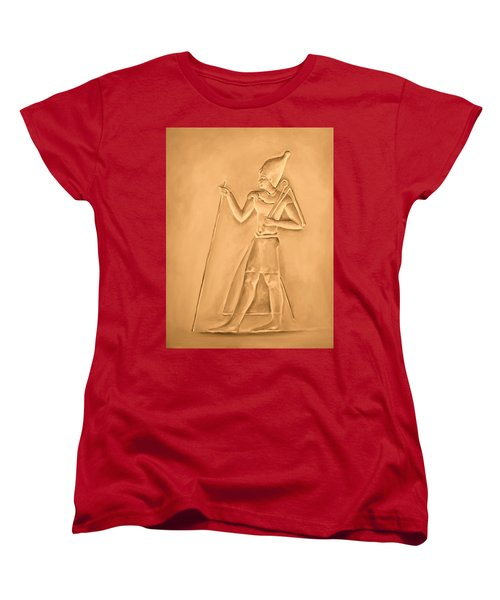 Women's T-Shirt (Standard Cut) featuring the painting King by Elizabeth Lock