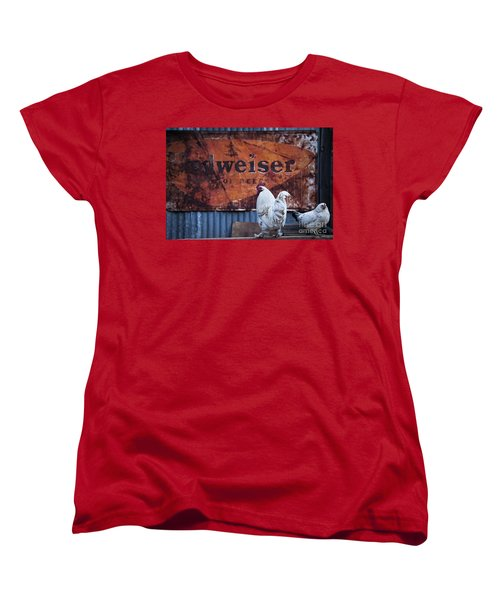 Women's T-Shirt (Standard Cut) featuring the photograph King Of Beer Doodle Do by Lee Craig