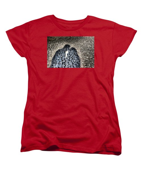 Kiss Me On The Cobblestone Women's T-Shirt (Standard Cut) by Dora Hathazi Mendes