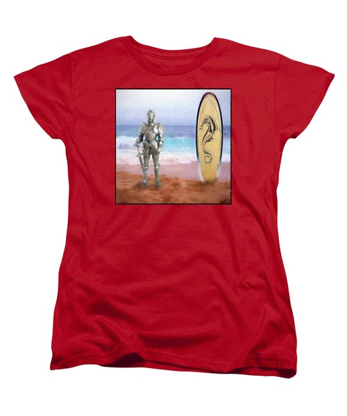 Women's T-Shirt (Standard Cut) featuring the painting Knights Landing by Michael Cleere