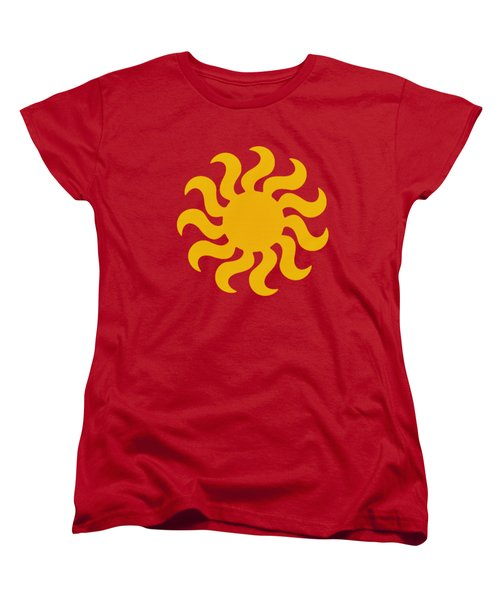 Knitted Sun Women's T-Shirt (Standard Cut) by Anton Kalinichev