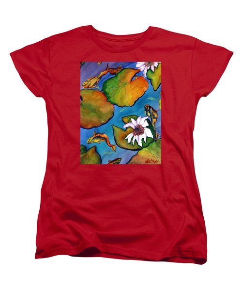 Koi Pond II Sold Women's T-Shirt (Standard Cut) by Lil Taylor