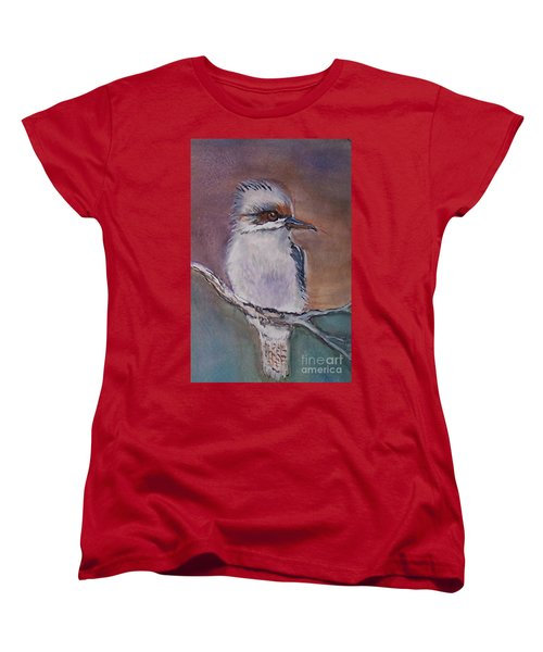 Women's T-Shirt (Standard Cut) featuring the painting Kookaburra Fancy by Leslie Allen