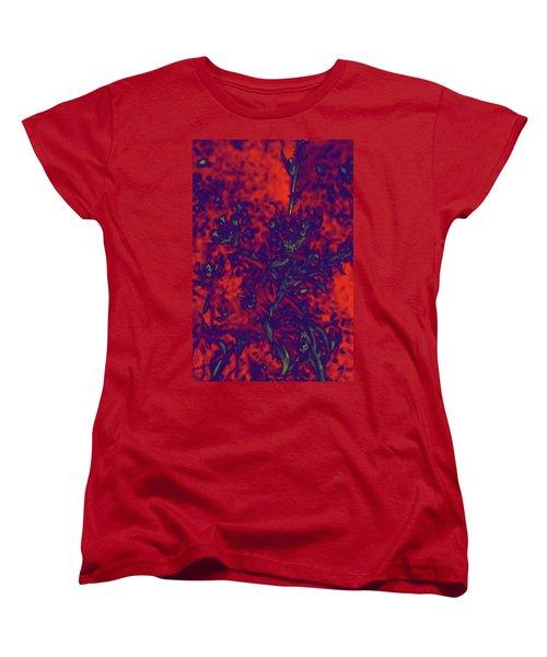 Women's T-Shirt (Standard Cut) featuring the digital art Krazy Kosmic Katchina I by Carolina Liechtenstein