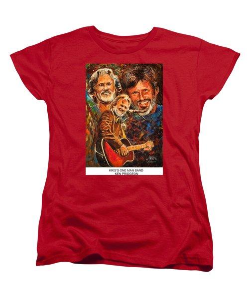 Kris's One Man Band Women's T-Shirt (Standard Cut) by Ken Pridgeon