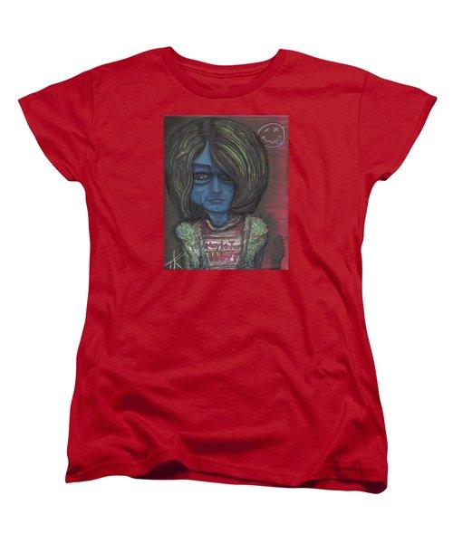 Women's T-Shirt (Standard Cut) featuring the painting Kurt Cobalien by Similar Alien