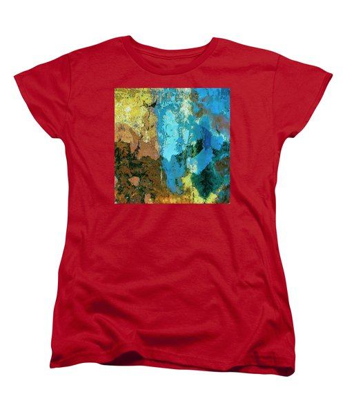 Women's T-Shirt (Standard Cut) featuring the painting La Playa by Dominic Piperata
