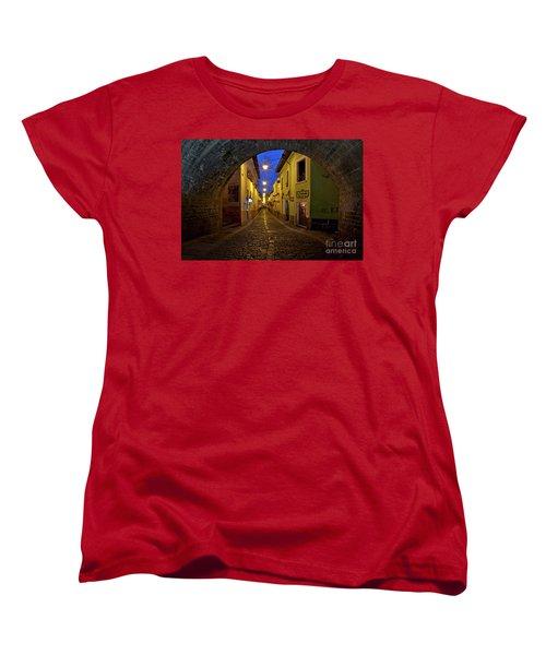 La Ronda Calle In Old Town Quito, Ecuador Women's T-Shirt (Standard Cut) by Sam Antonio Photography