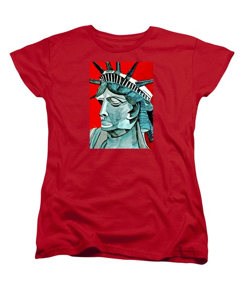 Lady Liberty Women's T-Shirt (Standard Cut) by Anna Porter