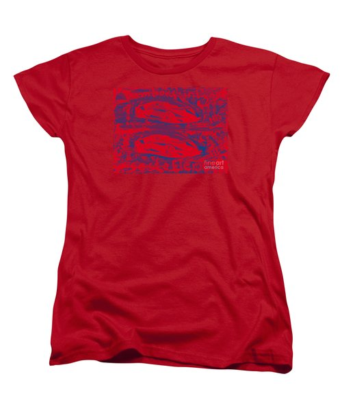 Lamborghini Sesto Elemento Two Point Two Million His And Hers Women's T-Shirt (Standard Cut) by Richard W Linford