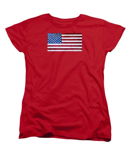 Land Of The Free Women's T-Shirt (Standard Cut) by David Millenheft