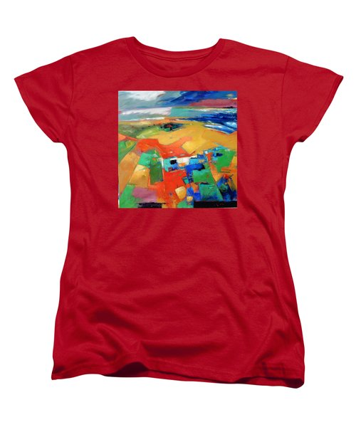 Women's T-Shirt (Standard Cut) featuring the painting Landforms, Suggestion Of A Memory by Gary Coleman