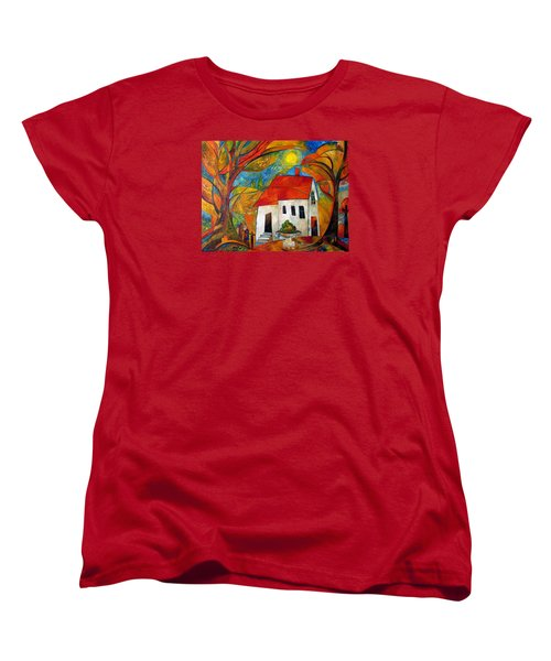Landscape With The House Women's T-Shirt (Standard Cut) by Mikhail Savchenko