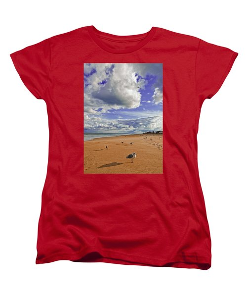 Last Day At The Beach Women's T-Shirt (Standard Cut) by Jim Moore
