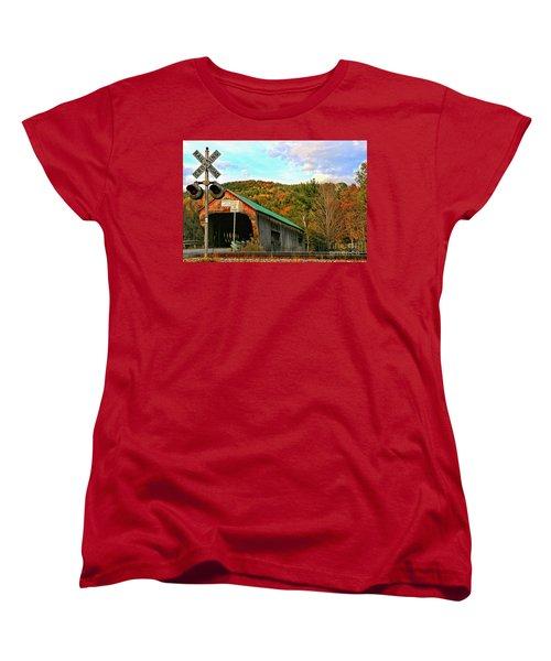 Women's T-Shirt (Standard Cut) featuring the photograph Last Days by DJ Florek