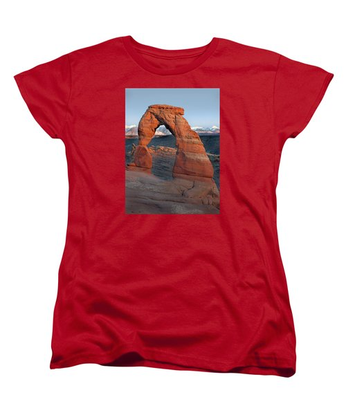 Last Light On Delicate Arch  Women's T-Shirt (Standard Cut) by Jeff Brunton