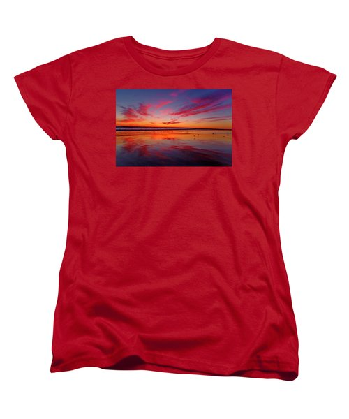 Last Light Topsail Beach Women's T-Shirt (Standard Cut) by Betsy Knapp