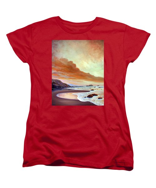 Late Afternoon On San Simeon Beach Women's T-Shirt (Standard Cut) by Michael Rock