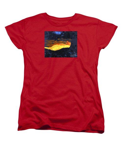 Lava Flow Women's T-Shirt (Standard Cut) by Karen Nicholson
