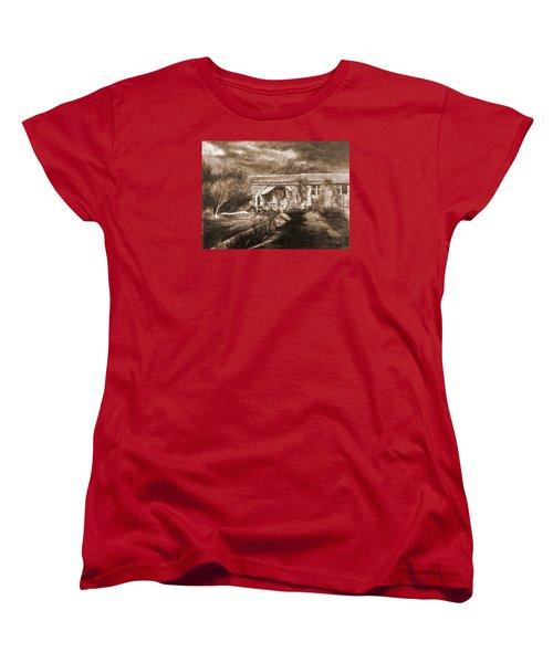 Women's T-Shirt (Standard Cut) featuring the drawing Lawn by Mikhail Savchenko
