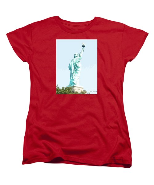 Leap Of Liberty Women's T-Shirt (Standard Cut) by Denise Tomasura