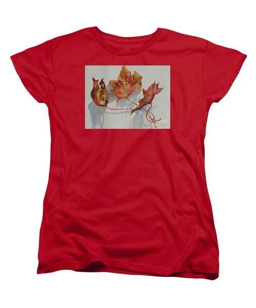 Leaves Of Fall Women's T-Shirt (Standard Cut) by Mary Haley-Rocks