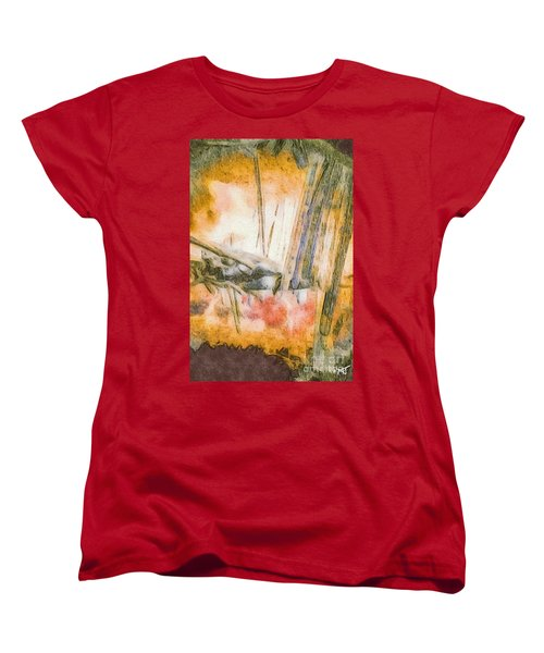 Women's T-Shirt (Standard Cut) featuring the photograph Leaving The Woods by William Wyckoff