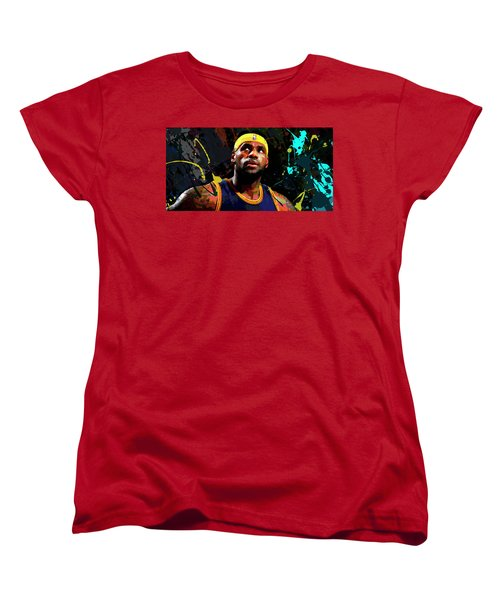 Women's T-Shirt (Standard Cut) featuring the painting Lebron by Richard Day