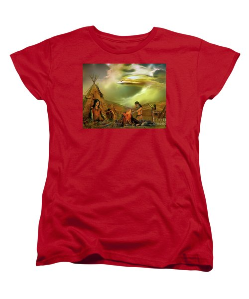 Women's T-Shirt (Standard Cut) featuring the digital art Legends Of The Sky People  by Shadowlea Is