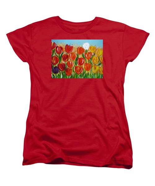 Les Tulipes - The Tulips Women's T-Shirt (Standard Cut) by Gioia Albano